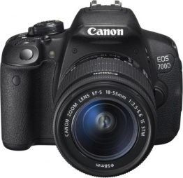 Canon EOS 700D SLR-Digitalkamera (18 Megapixel, 7,6 cm (3 Zoll) Touchscreen, Full HD, Live-View) Kit inkl. EF-S 18-55mm 1:3,5-5,6 IS STM - 1