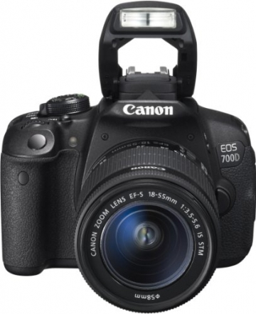 Canon EOS 700D SLR-Digitalkamera (18 Megapixel, 7,6 cm (3 Zoll) Touchscreen, Full HD, Live-View) Kit inkl. EF-S 18-55mm 1:3,5-5,6 IS STM - 2