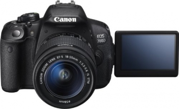 Canon EOS 700D SLR-Digitalkamera (18 Megapixel, 7,6 cm (3 Zoll) Touchscreen, Full HD, Live-View) Kit inkl. EF-S 18-55mm 1:3,5-5,6 IS STM - 3