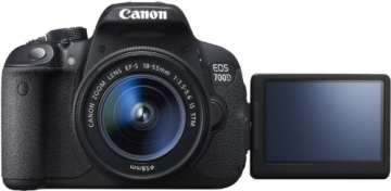 Canon EOS 700D SLR-Digitalkamera (18 Megapixel, 7,6 cm (3 Zoll) Touchscreen, Full HD, Live-View) Kit inkl. EF-S 18-55mm 1:3,5-5,6 IS STM - 4