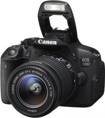 Canon EOS 700D SLR-Digitalkamera (18 Megapixel, 7,6 cm (3 Zoll) Touchscreen, Full HD, Live-View) Kit inkl. EF-S 18-55mm 1:3,5-5,6 IS STM - 5