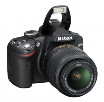 Nikon D3200 SLR-Digitalkamera (24 Megapixel, 7,4 cm (2,9 Zoll) Display, Live View, Full-HD) Kit inkl. AF-S DX 18-55 VR Objektiv schwarz - 6