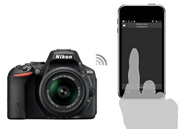 Nikon D5500 SLR-Digitalkamera (24 Megapixel, 8,1 cm (3,2 Zoll) Touchscreen-Display, bildstabilisiert, Full-HD-Video, Wi-Fi) Kit inkl. 18-55mm VR II Objektiv schwarz - 21