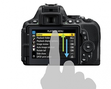 Nikon D5500 SLR-Digitalkamera (24 Megapixel, 8,1 cm (3,2 Zoll) Touchscreen-Display, bildstabilisiert, Full-HD-Video, Wi-Fi) Kit inkl. 18-55mm VR II Objektiv schwarz - 22