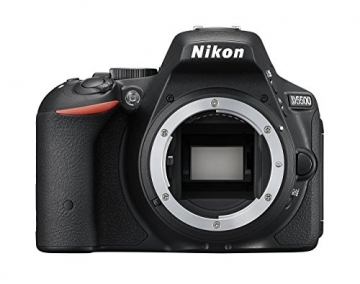 Nikon D5500 SLR-Digitalkamera (24 Megapixel, 8,1 cm (3,2 Zoll) Touchscreen-Display, bildstabilisiert, Full-HD-Video, Wi-Fi) Kit inkl. 18-55mm VR II Objektiv schwarz - 24