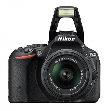 Nikon D5500 SLR-Digitalkamera (24 Megapixel, 8,1 cm (3,2 Zoll) Touchscreen-Display, bildstabilisiert, Full-HD-Video, Wi-Fi) Kit inkl. 18-55mm VR II Objektiv schwarz - 5