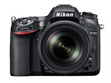 Nikon D7100 SLR-Digitalkamera (24 Megapixel, 8 cm (3,2 Zoll) TFT-Monitor, Full-HD-Video) Kit inkl. AF-S DX 18-105 mm 1:3,5-5,6G ED VR Objektiv schwarz - 1