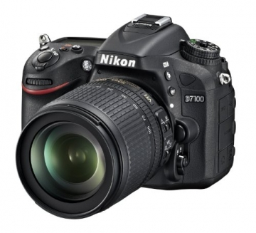 Nikon D7100 SLR-Digitalkamera (24 Megapixel, 8 cm (3,2 Zoll) TFT-Monitor, Full-HD-Video) Kit inkl. AF-S DX 18-105 mm 1:3,5-5,6G ED VR Objektiv schwarz - 2