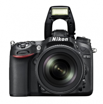 Nikon D7100 SLR-Digitalkamera (24 Megapixel, 8 cm (3,2 Zoll) TFT-Monitor, Full-HD-Video) Kit inkl. AF-S DX 18-105 mm 1:3,5-5,6G ED VR Objektiv schwarz - 7